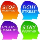 Mensagens positivas Imagens de Stock Royalty Free