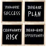Mensagens positivas do negócio no quadro Imagens de Stock Royalty Free
