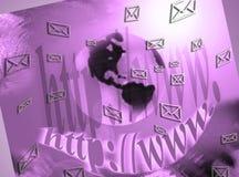 Mensagens, redes sociais, email Foto de Stock