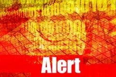 Mensaje alerta del sistema de alarma Imagen de archivo