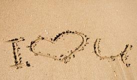 Mensaje - amor u de I Imágenes de archivo libres de regalías