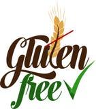 Mensaje artístico libre del gluten Fotografía de archivo libre de regalías