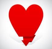 Mensaje bajo la forma de corazón Imagenes de archivo
