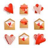 Mensaje con el corazón Foto de archivo