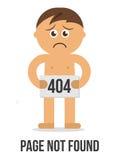 mensaje de error 404 - página no encontrada Foto de archivo libre de regalías