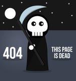 mensaje de error 404 - página no encontrada - parca Imagen de archivo libre de regalías