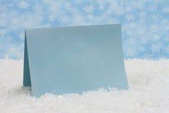Mensaje de invierno Fotos de archivo