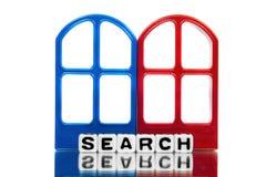 Mensaje de la búsqueda Foto de archivo libre de regalías