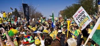 Mensaje de la buena suerte para Bafana Bafana Imagen de archivo libre de regalías