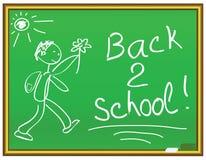 Mensaje de la escuela de la parte posterior 2 libre illustration