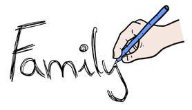 Mensaje de la familia Fotografía de archivo