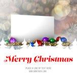 Mensaje de la Feliz Navidad Imagen de archivo