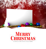 Mensaje de la Feliz Navidad Foto de archivo