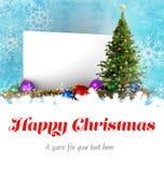 Mensaje de la feliz Navidad Imágenes de archivo libres de regalías