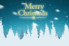 Mensaje de la Feliz Navidad en el cielo Foto de archivo