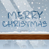 Mensaje de la Feliz Navidad en el vector de cristal Imagenes de archivo