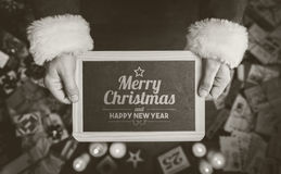 Mensaje de la Feliz Navidad y de la Feliz Año Nuevo Foto de archivo libre de regalías