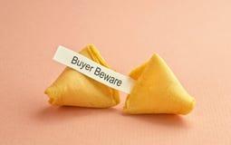 Mensaje de la galleta de fortuna Fotos de archivo