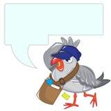 Mensaje de la gaviota Foto de archivo libre de regalías
