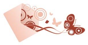 Mensaje de la mariposa Stock de ilustración