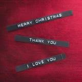 Mensaje de la Navidad Foto de archivo libre de regalías
