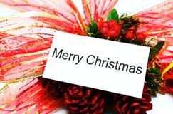 Mensaje de la Navidad Imagenes de archivo