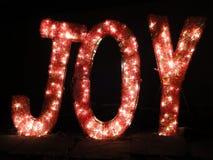 Mensaje de la Navidad de la alegría Imágenes de archivo libres de regalías