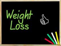 Mensaje de la pérdida de peso y como muestra Fotografía de archivo
