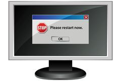 Mensaje de la pantalla de ordenador Fotos de archivo