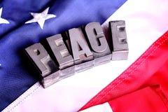 Mensaje de la paz Fotografía de archivo libre de regalías