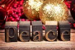 Mensaje de la paz Fotos de archivo libres de regalías