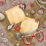 Mensaje de la playa Imagen de archivo libre de regalías