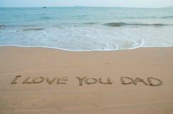 Mensaje de la playa foto de archivo libre de regalías