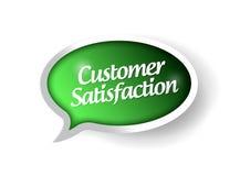 Mensaje de la satisfacción del cliente en una burbuja del discurso Imagen de archivo libre de regalías
