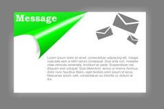 Mensaje de la tarjeta Foto de archivo libre de regalías