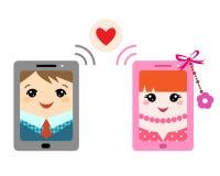 Mensaje de la tarjeta del día de San Valentín Imagen de archivo libre de regalías