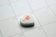 Mensaje de la tarjeta del día de San Valentín Imagenes de archivo