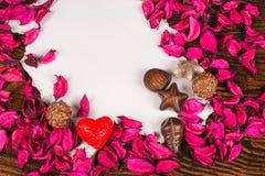 Mensaje de las tarjetas del día de San Valentín Fotos de archivo