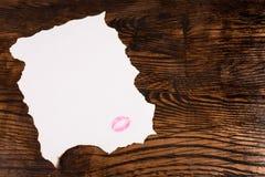 Mensaje de las tarjetas del día de San Valentín Imagenes de archivo
