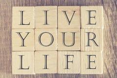 Mensaje de Live Your Life Fotos de archivo