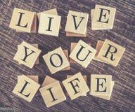 Mensaje de Live Your Life Imagen de archivo
