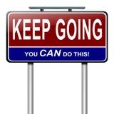 Mensaje de motivación. Foto de archivo