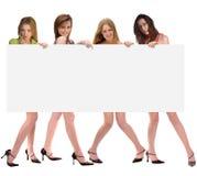 Mensaje de muchachas Imagen de archivo