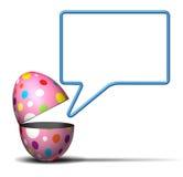 Mensaje de Pascua Fotos de archivo libres de regalías