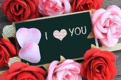 Mensaje de te amo Foto de archivo