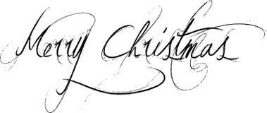 Mensaje de texto de la Feliz Navidad Fotos de archivo libres de regalías