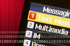 Mensaje de texto del teléfono