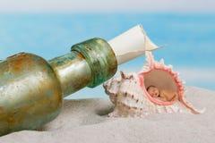 Mensaje de un bebé Fotos de archivo