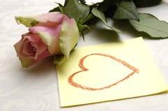 Mensaje del amor imagenes de archivo