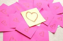 Mensaje del amor fotografía de archivo libre de regalías